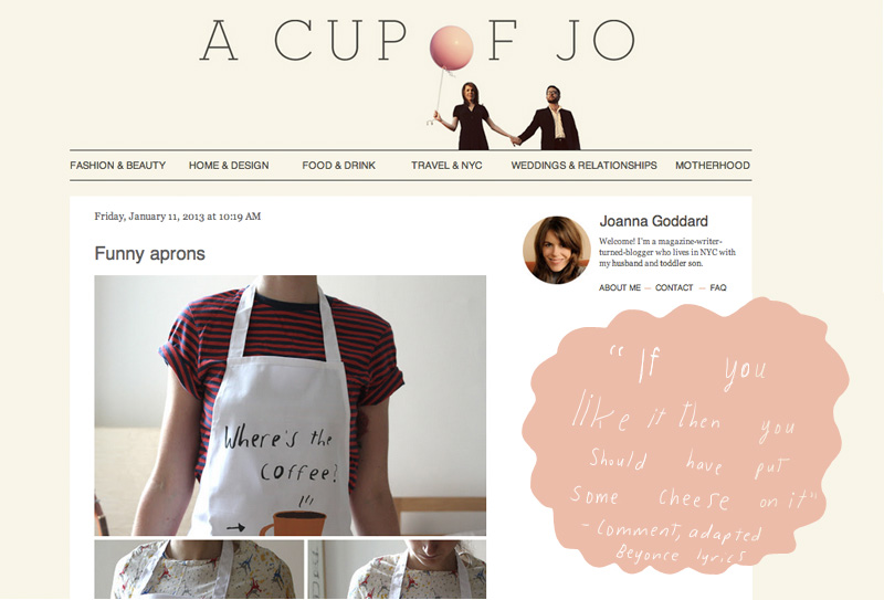 Aprons on lifestyle blog