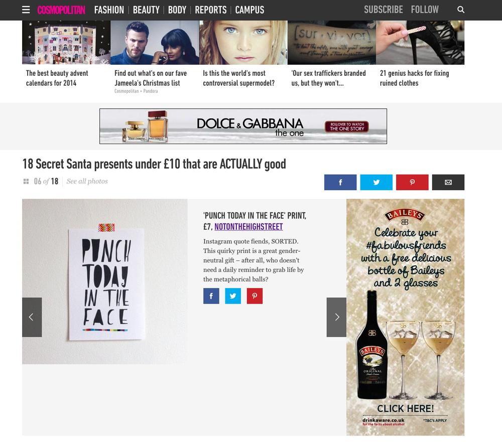 Cosmopolitan UK xmas 2014 gift guide