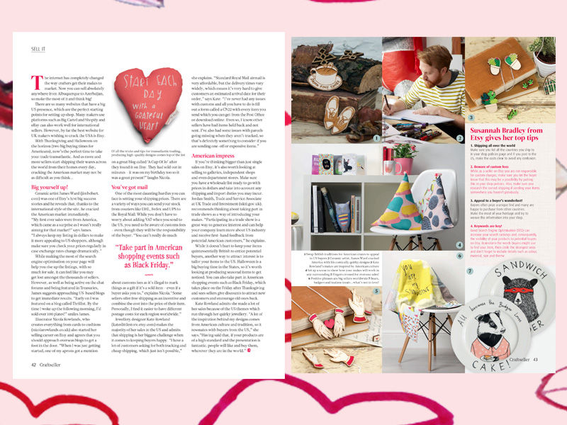 Craftseller magazine Oct 2015