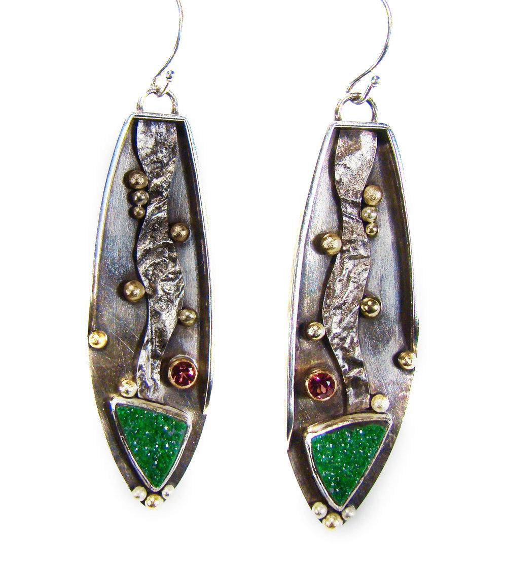 Green Druze Earrings #839.jpg