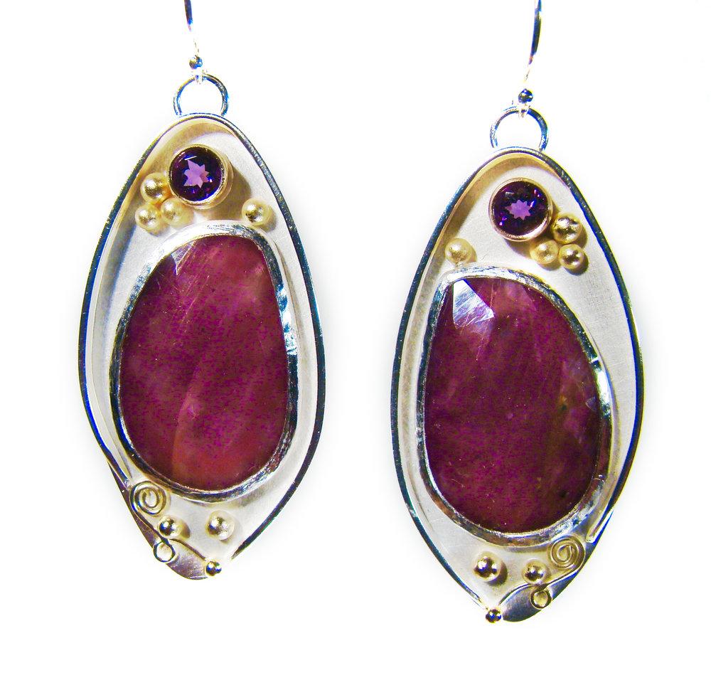 Rose cut sapphire earrings.jpg