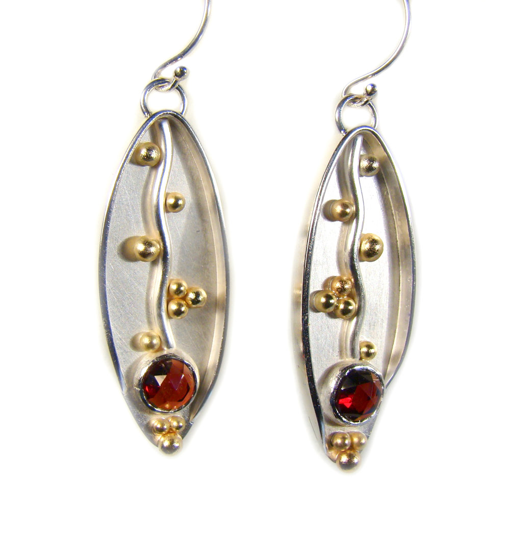 Rose cut garnet earrings #859.jpg