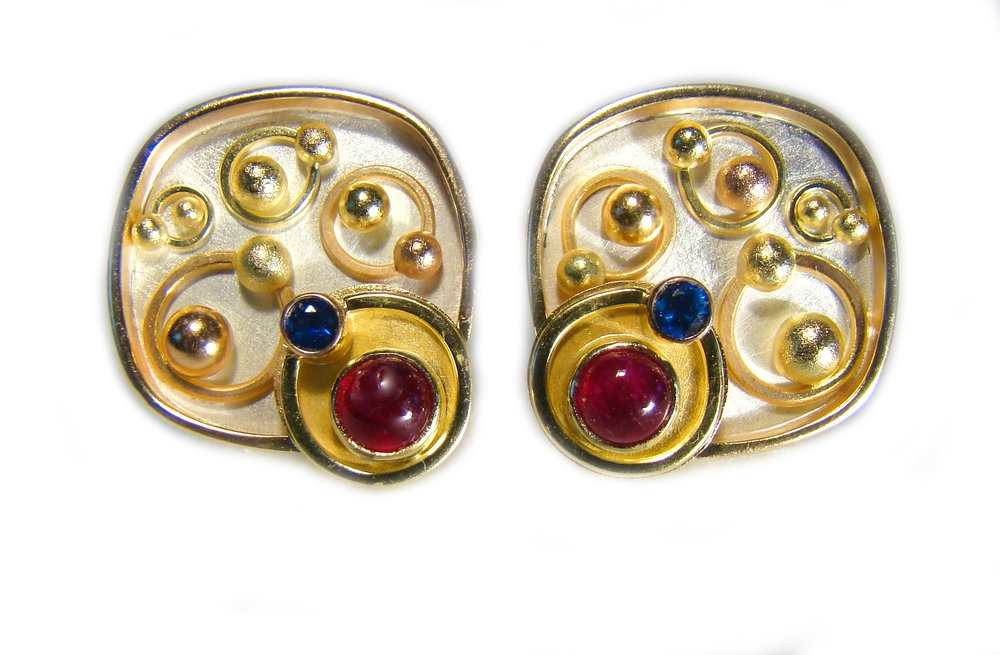 Ruby Sapphire Earrings #861.jpg