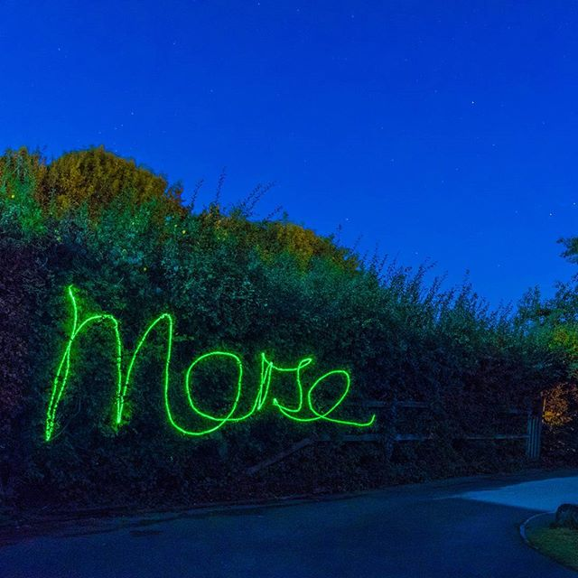 Messing around with laser pointers and long exposure photography... . . . . #laser #nightphotography