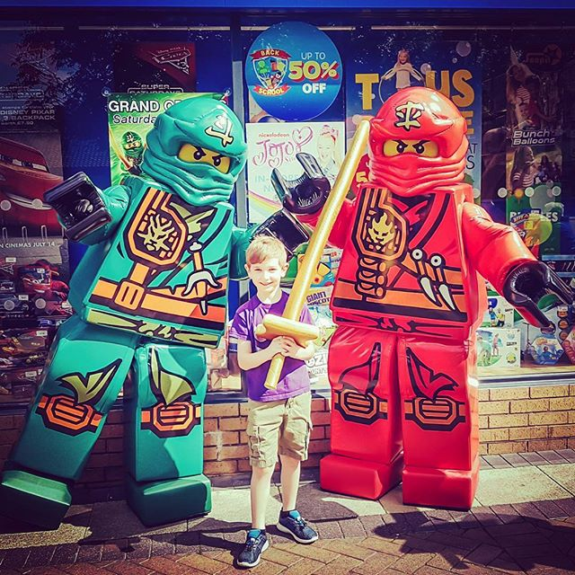 New Ninjago recruit at the grand opening of #theentertaineryate at the weekend!