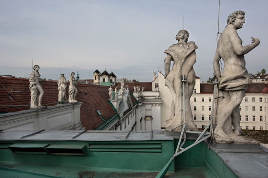 "Patricia Wallace - ""Rooftop Statuary, Trautson Palace, Vienna 2016"""