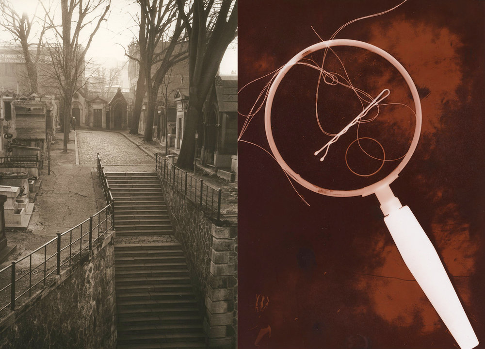 images by instructor Tiina Kirik (L: carbon toned print; R: copper toned print)