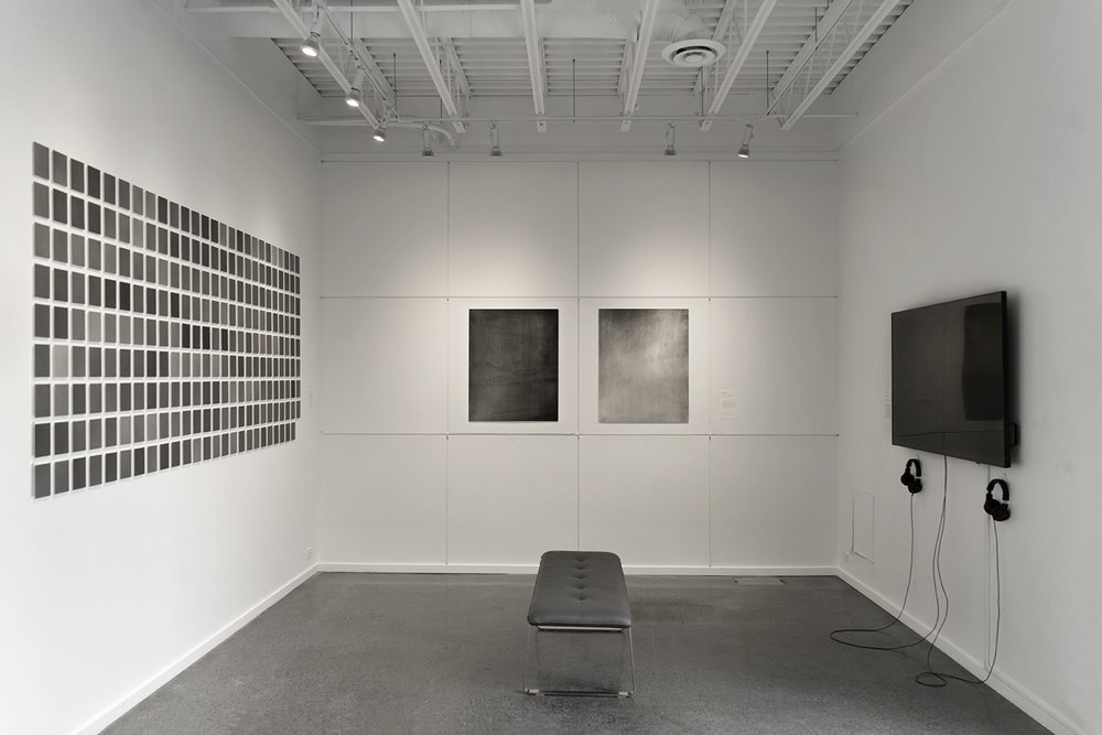 installation image of Neeko Paluzzi's exhibition  TONES, This Place Is A Shelter