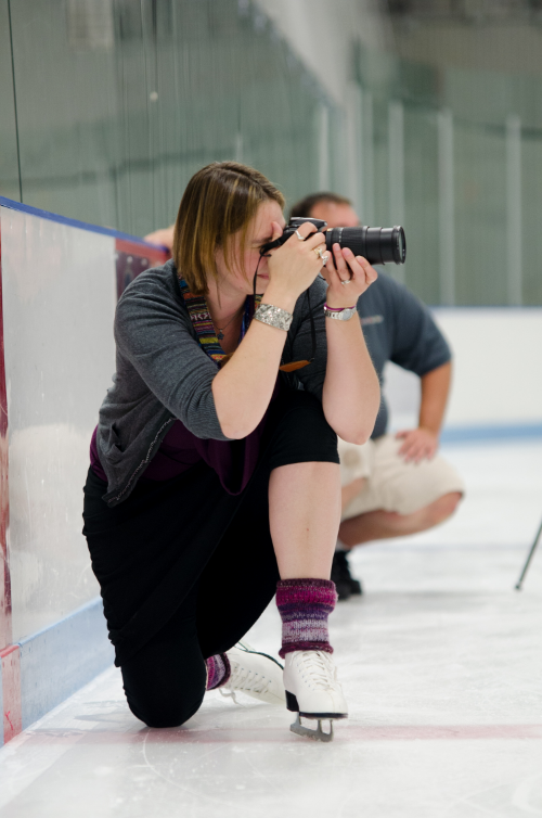 Photograph a wedding on ice skates?!  Sign me up!!  Photo by Stacey Brooks.