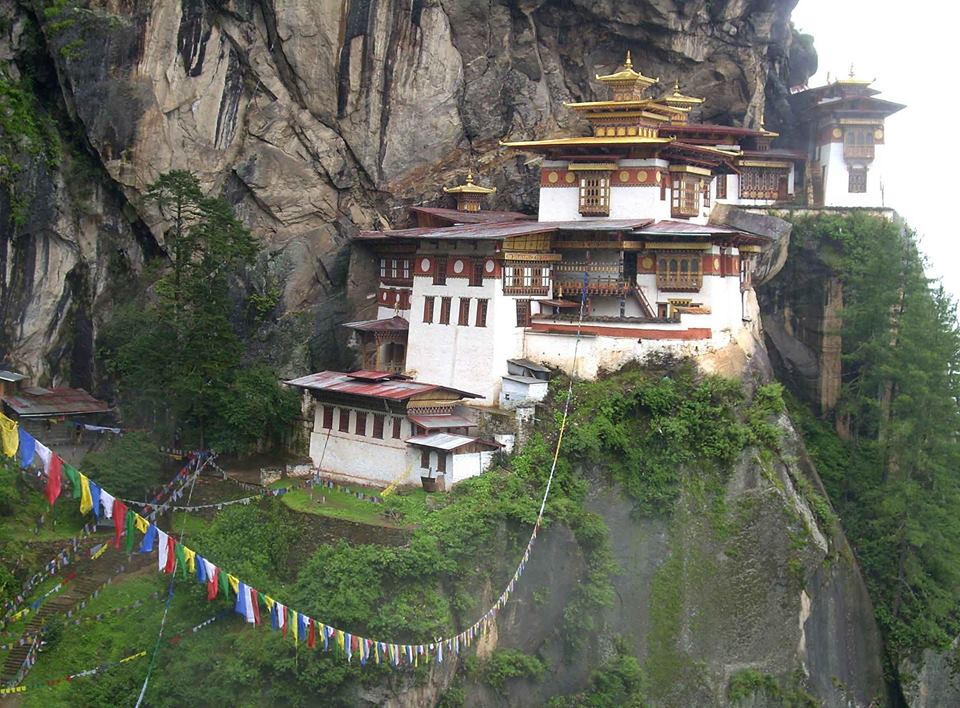 """At 3000 meters, the """"Tigers Nest"""" Monastery is the ULTIMATE Finish Line to the Bhutan Endurance Run."""