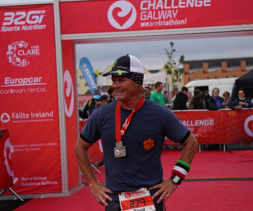 David Hynan finishing at Challenge Galway.