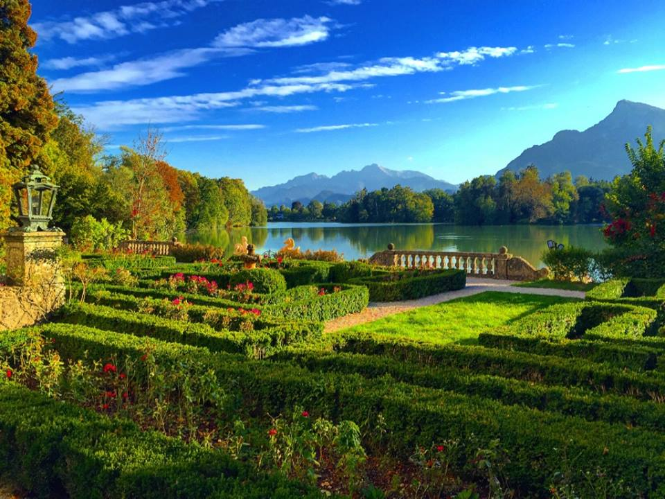 In Salzburg we stay at one of the great hotels of the world, Hotel Schloss Leopoldskron.