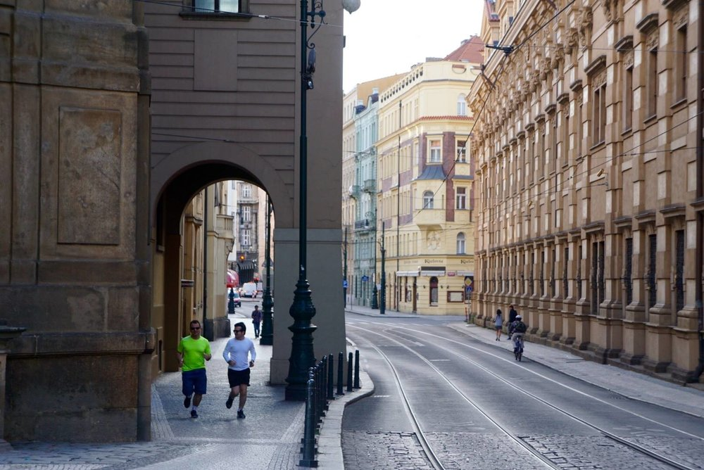 Morning Run in Prague