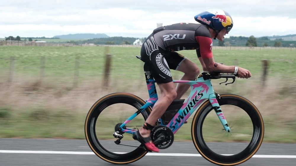 IRONMAN New Zealand 2017 Champion,  Braden Currie .