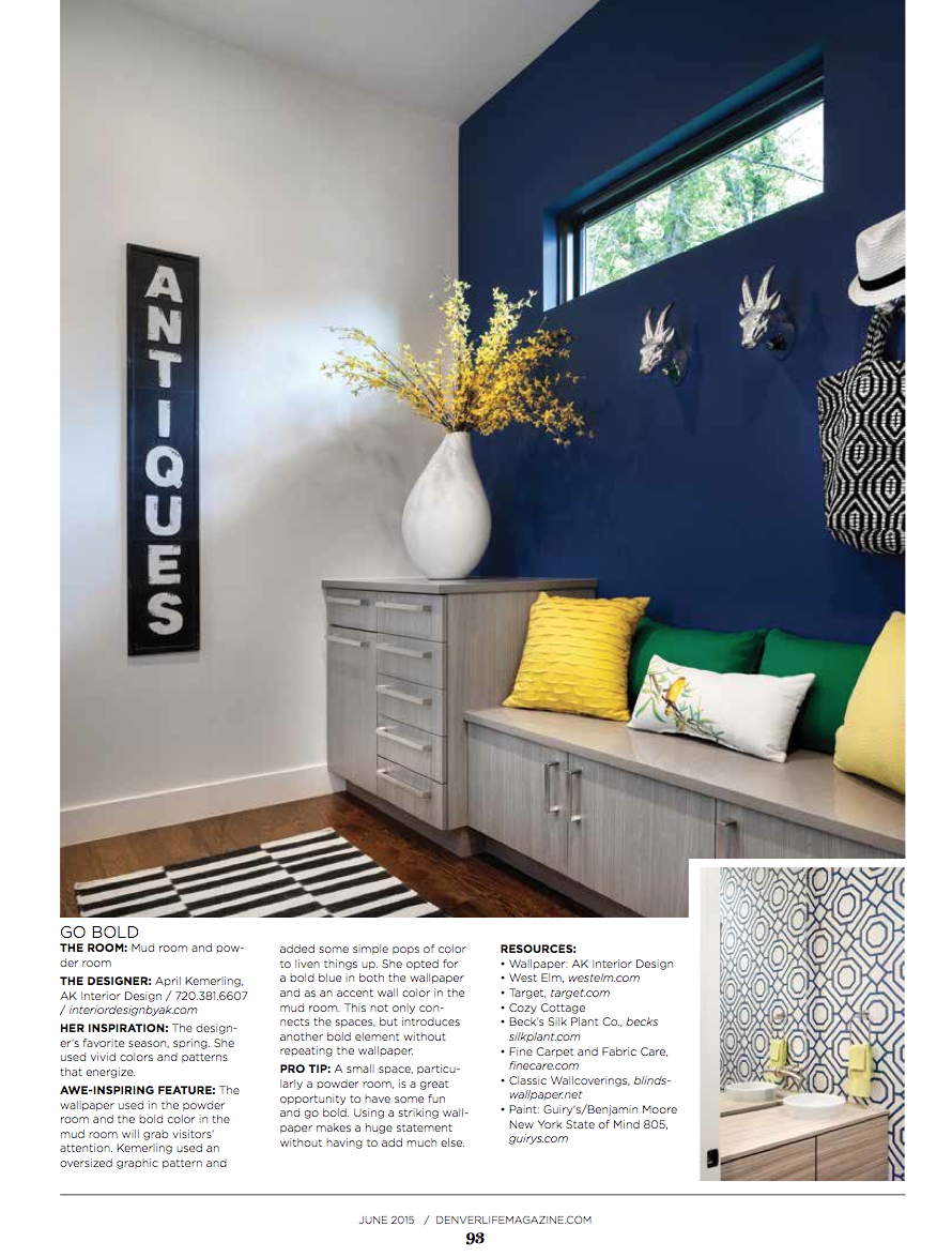 Denver Life Magazine: 2015 Designer Showhouse benefiting Habitat for Humanity