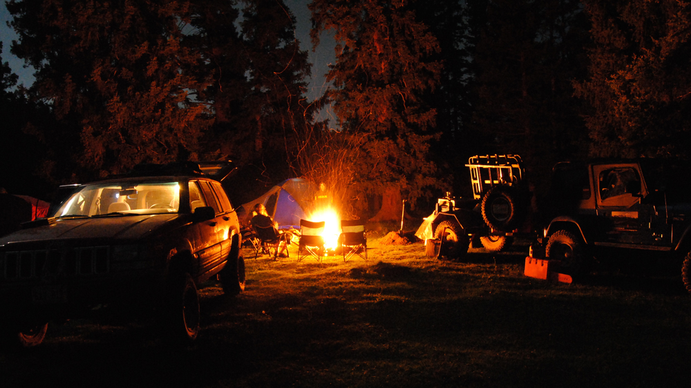 Camp high on the Valles Escarpment, New Mexico