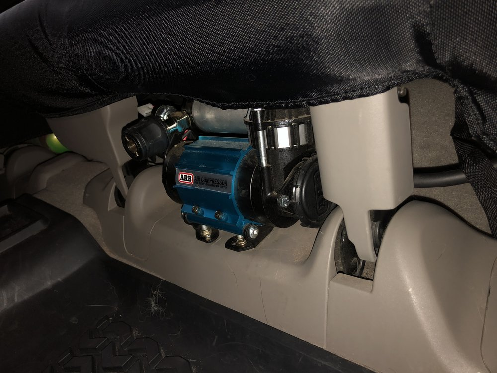 ARB mounted under rear seat.
