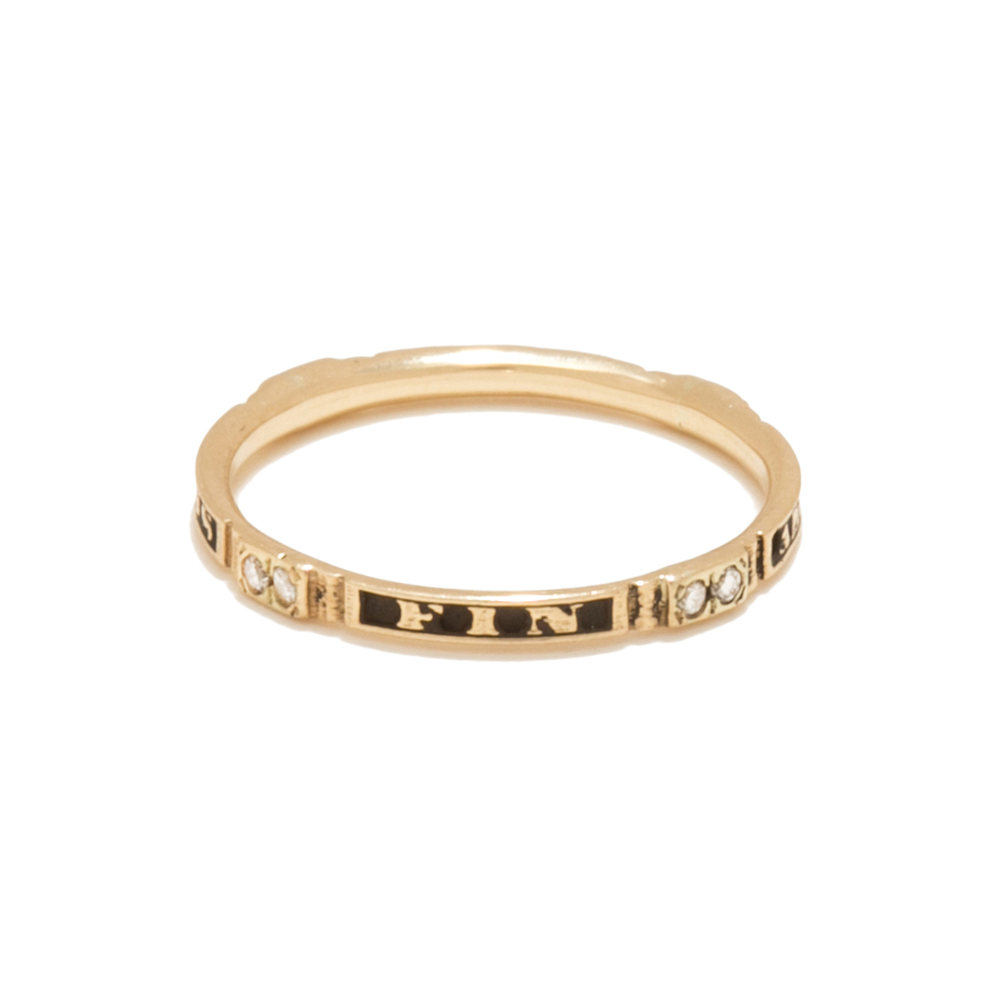 Tilda Biehn Amour Oath Ring In Rose Gold