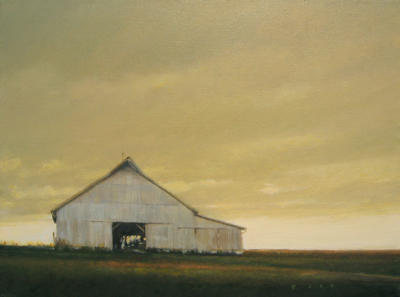 Barn - copyright 2010 Stephen Bach 12x16 oil on canvas.jpg
