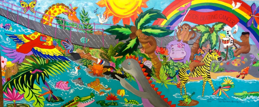 7 FOOT 3-D MURAL INSTALLED IN THE TREATMENT ROOM - KIDS BEATING CANCER PEDIATRIC TRANSPLANT CENTER - FLORIDA HOSPITAL