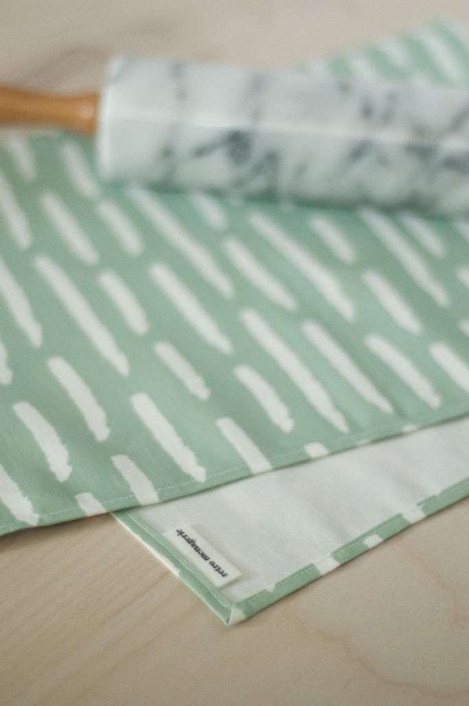 Modern Linen Tea Towel