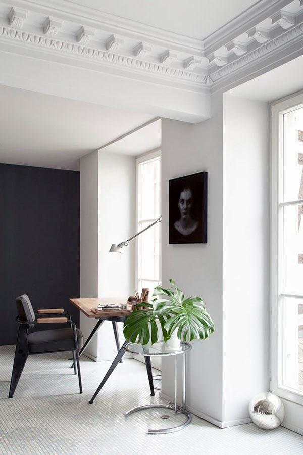 Minimalist Black and White Space