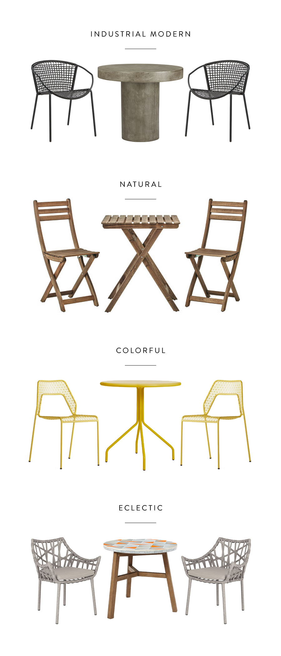 Outdoor Dining Furniture for Small Spaces