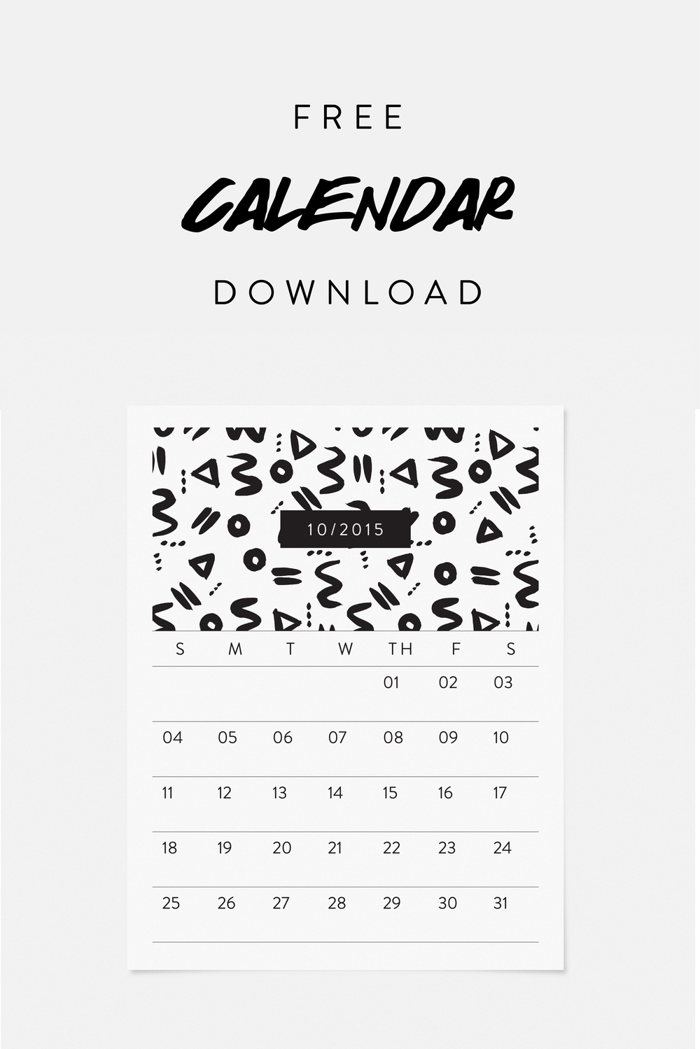 Free October 2015 Calendar Download featuring an original illustration from designer Jaymee Srp.  Click here to download!