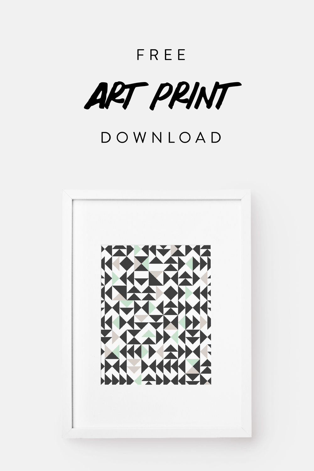 Free Geometric Triangle Art Print.  Download yours here!