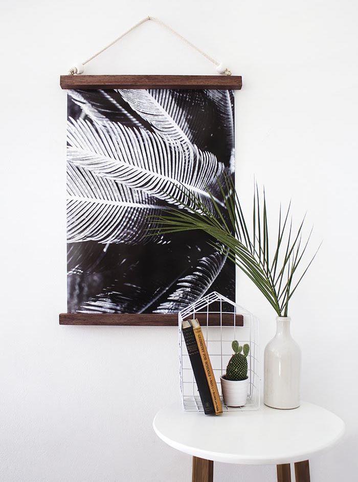 DIY Hanging Half Frame from Design Sponge