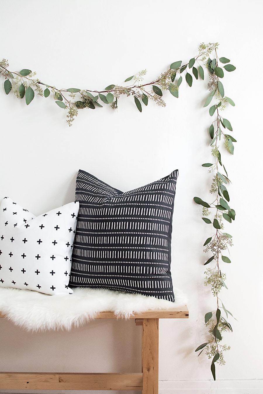DIY Eucalyptus Garland from Homey Oh My