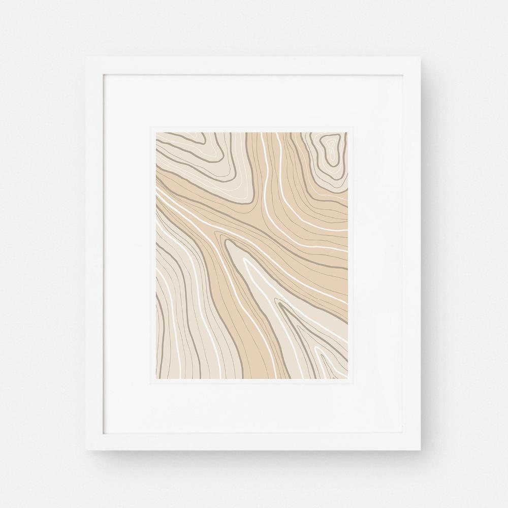 Peach Sandstone Art Print