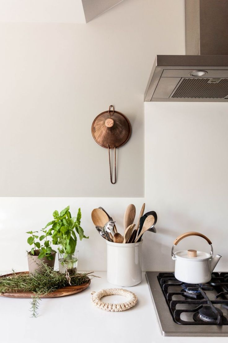 How to add color to a neutral kitchen.