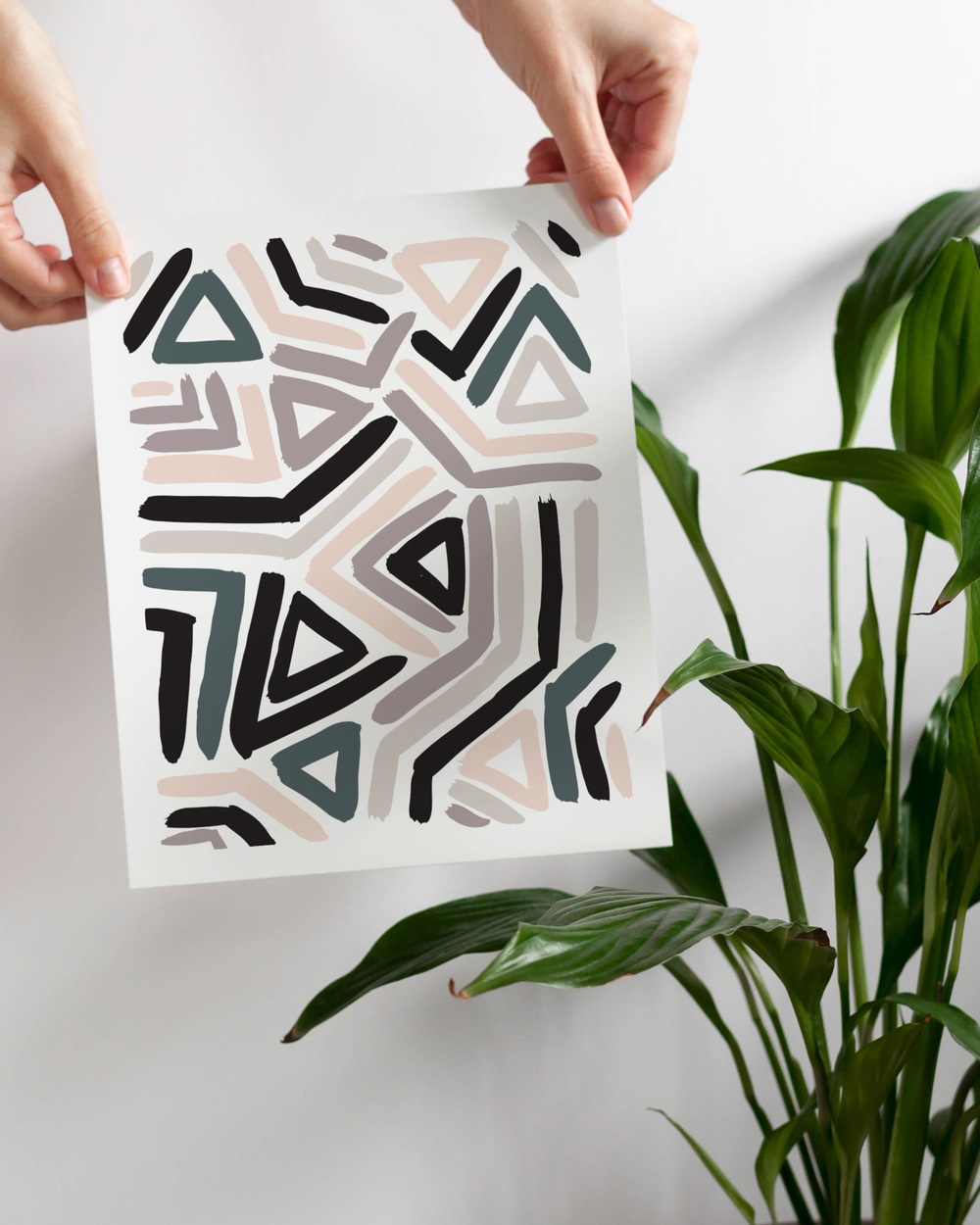 New abstract wall art by Jaymee Srp.  Click to shop.