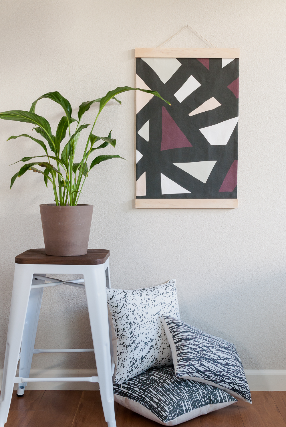Abstract Geometric Fabric Wall Hanging