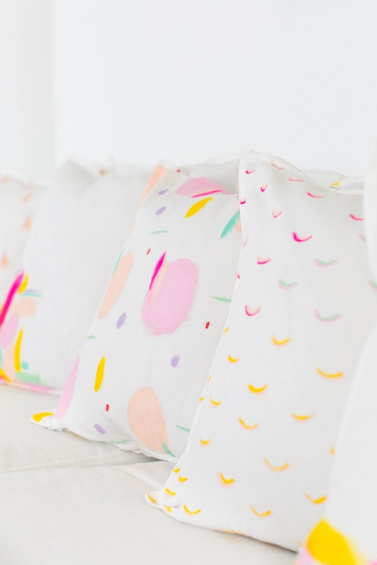 DIY Patterned Throw Pillows