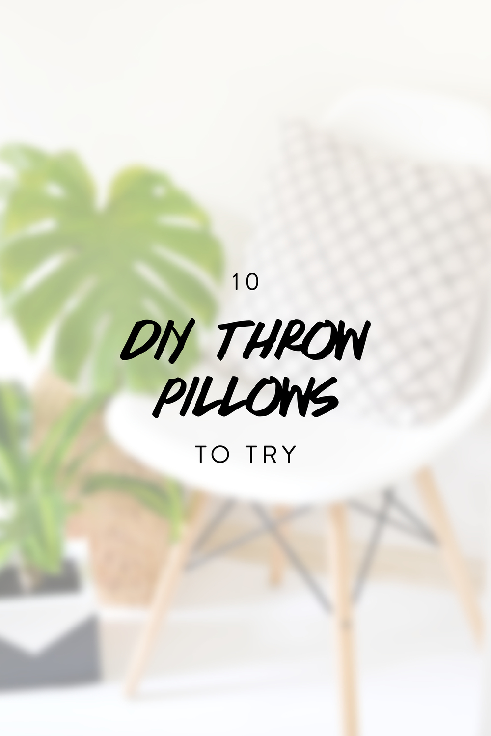 10 DIY Throw Pillows To Try