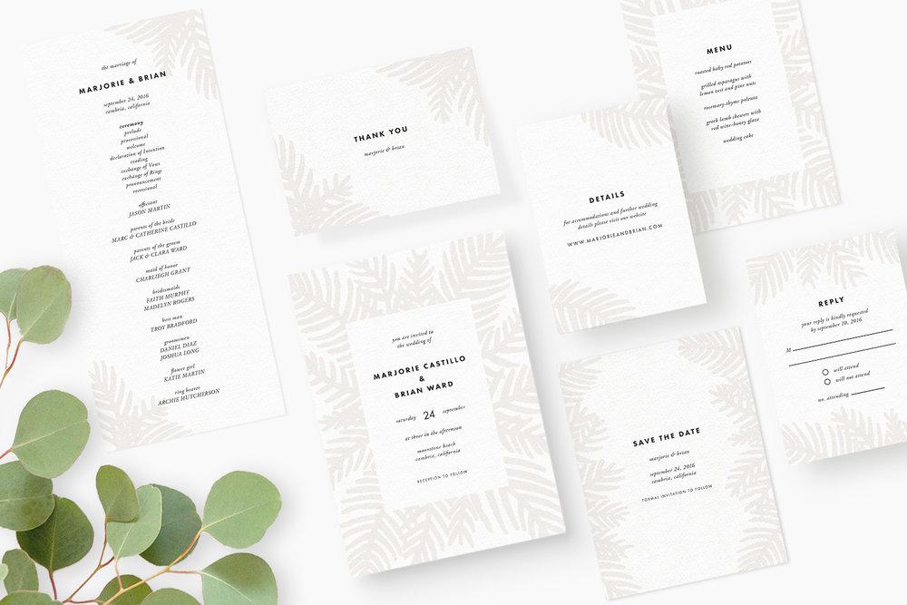 Palm Leaf Wedding Collection