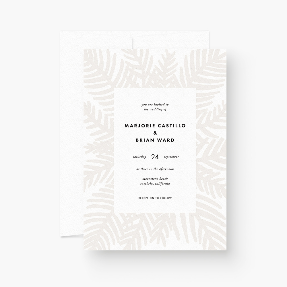 Palm Leaf Wedding Invitation Printables