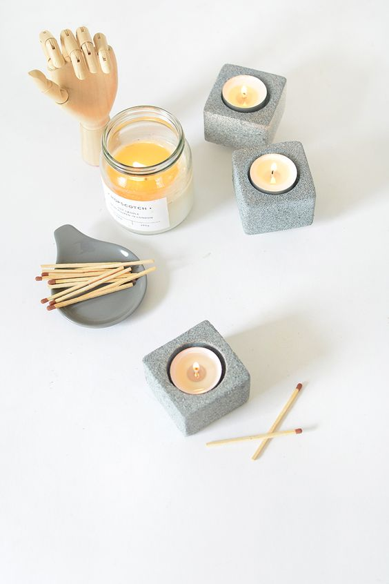 DIY Granite Tealights