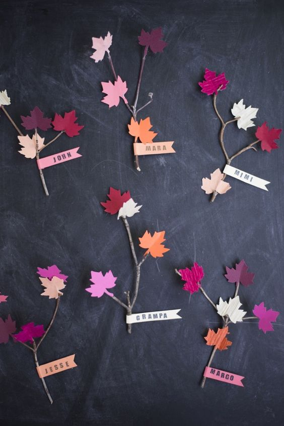 Leaf and Twig Place Cards