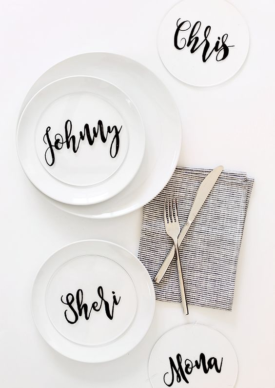 DIY Calligraphy Place Cards