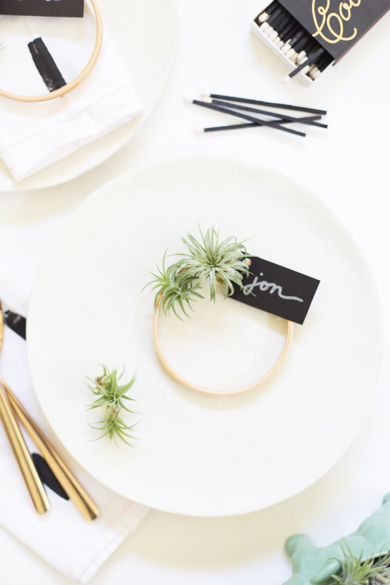 DIY Air Plant Wreath Place Cards
