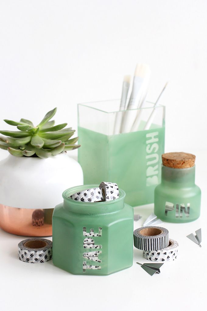 Sea Glass Jars
