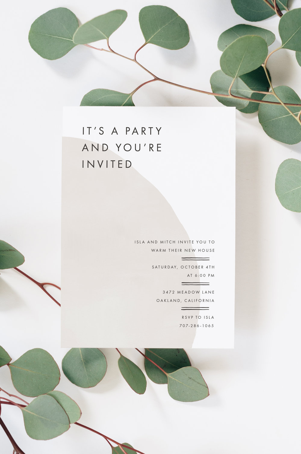 Minimalist Modern Party Invitations
