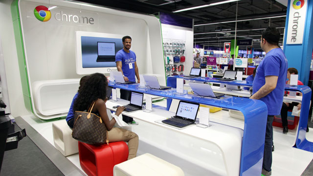 Google has tested pop-up standalone stores in the past.