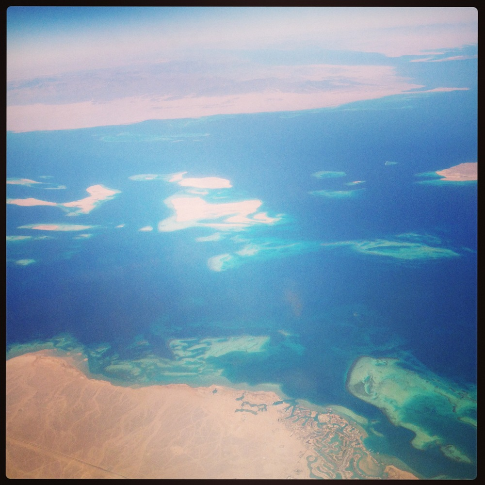 Flying over Egypt into Saudi ~ August 2013