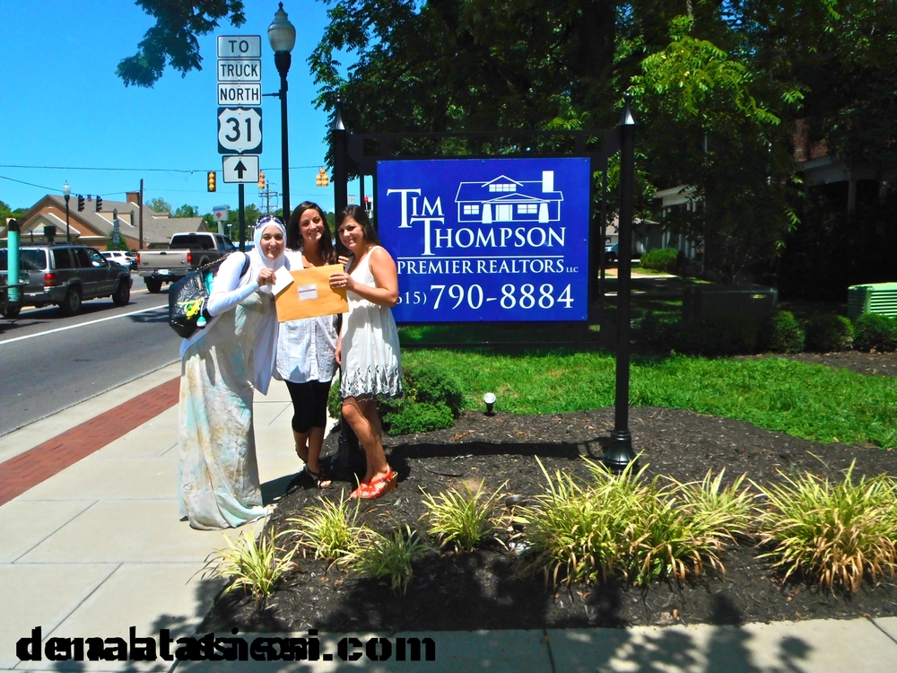 My realtors and I after signing my first property in Franklin, TN Take Two~ Summer 2012