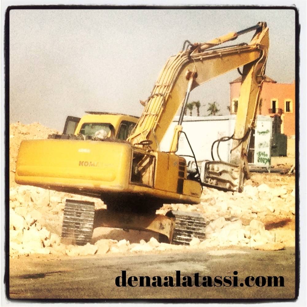 Jackhammers at 6am in New Arqah, Riyadh KSA Spring 2013