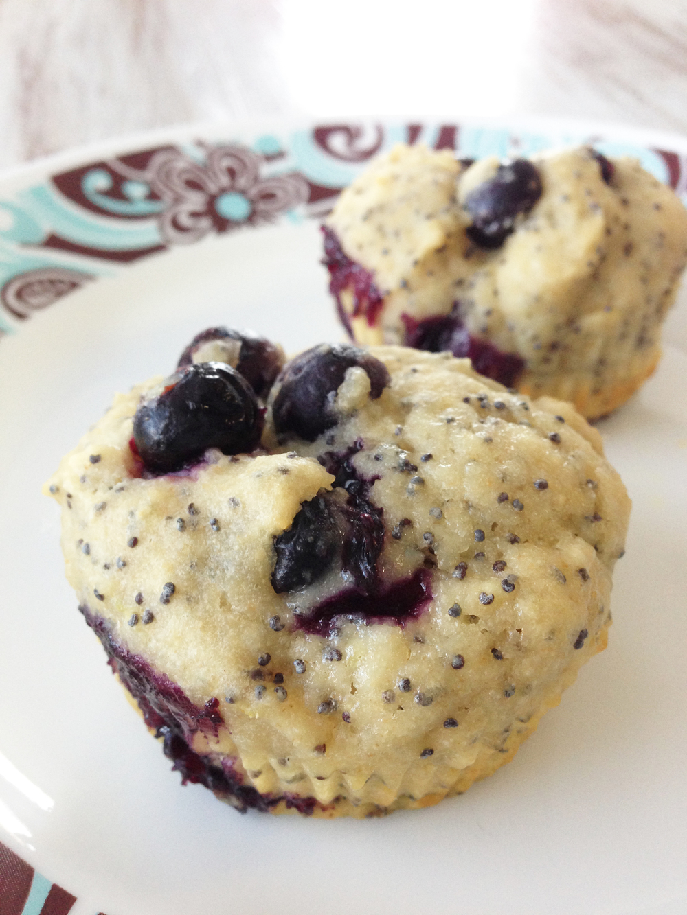 Healthified Lemon Blueberry Poppy Seed Muffins — The Skinny Fork